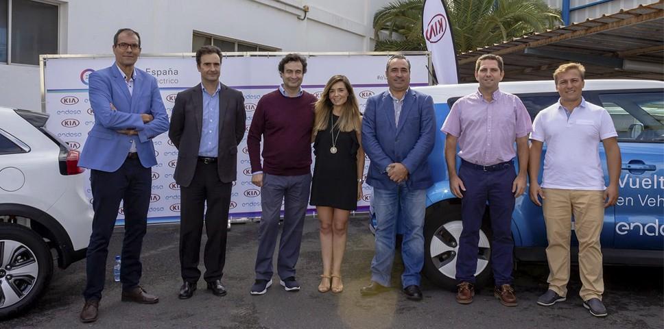 Kia Canarias colabora con la Vuelta a España en Vehículo Eléctrico